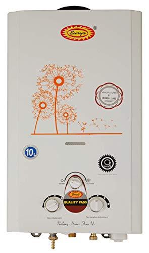 Surya Instant LPG Gas Geyser -10L/ Minute Orange