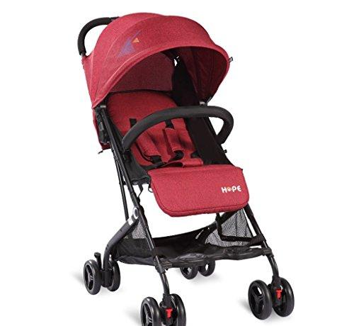 &Carrito de bebé Cochecito de bebé paraguas súper ligero plegable simple amortiguador - Cochecito (Color : 2#)