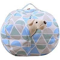 Preisvergleich für Haushaltsspeicher Bean Bag Kinder Plüsch Spielzeug Aufbewahrungstasche Große Kapazität Multi-Size-Aufbewahrungstasche Blau Und Grau,18In