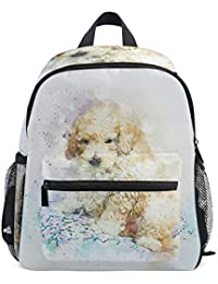FAJRO Animal Poodle Dog Painting School Bag for Girls School Pack