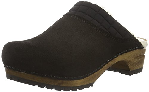 Sanita Damen Severine Open Clogs Schwarz (Black 2)