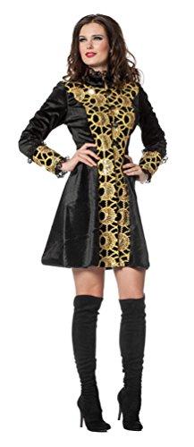 Karneval-Klamotten Jacke Luxus Gold Steampunk Jacke Russin Kostüm Damen Jacke Damen-Kostüm Karneval Größe 48