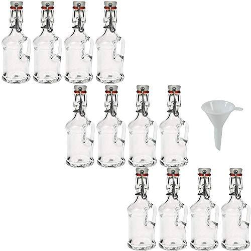 Viva haushaltswaren-12mini vetro bottiglie/gallone 40ml con chiusura
