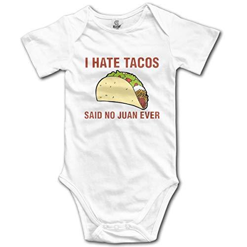 Klotr Unisex Baby Body Kurzarm I Hate Tacos Newborn Bodysuits Baumwolle Strampler Outfit Set