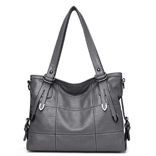 YTXY Leder Handtaschen Großauftakt-Handtaschen Europa und die Vereinigten Staaten Fashion Stitching Female Shoulder Messenger Bag,Gray - Europa-messenger Bag