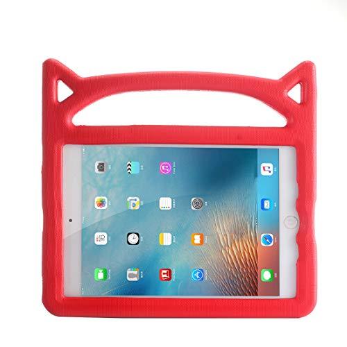 Jamicy® Ersatz für iPad Mini 5/4/3/2/1, Stoßfest Freistehend Leicht Eva-Schaumstoff-Hülle Kids Friendly Schutzhülle mit Griff und Faltbarem Ständer für iPad Mini 5/4/3/2/1 7.9 Zoll (Rot)