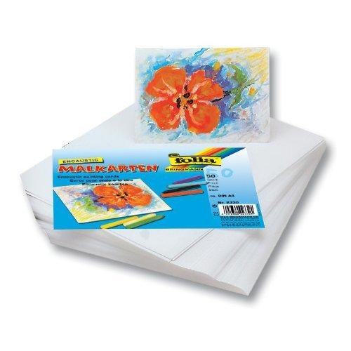 Encaustic Malkarten seidenmatt A4, 50 Stück