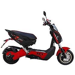 SXT Raptor 1200 con Motor cubo 2 Asiento Bicicleta eléctrica Negro/Rojo