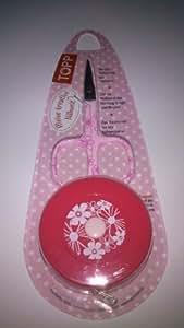 Designschere & Maßband mit Magnet auf der Rückseite in Rose