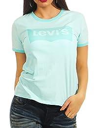 Levi's Camiseta Perfect Ringer Azul Mujer