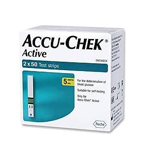 Accu-Chek Active 100 Strips, (50x2) (Multicolor)