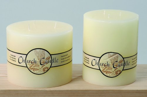 "Stumpen Kerze ""Church Candle"" mit 3 Dochte"