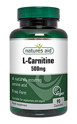 Natures Aid 500mg L-Carnitine Capsules - Pack of
