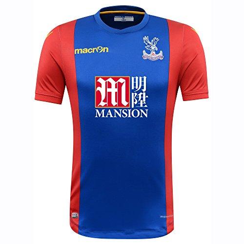 CRYSTAL PALACE F.C.® Original Macron Trikot Heim (kurzarm) · UNISEX Herren Damen Kinder Heimtrikot (FC Fanartikel) · Offizielles Merchandise Fan-Shirt (Authentic Jersey Home) · Barclay's Premier League England Fantrikot (Saison 2016/2017, S)