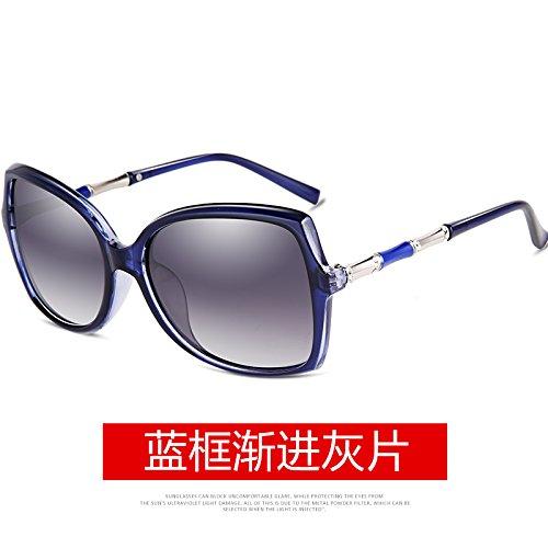 LLZTYJ Sonnenbrille/Damen Polarisierte Sonnenbrille Runde Gesicht Big Face Drive Fahren...