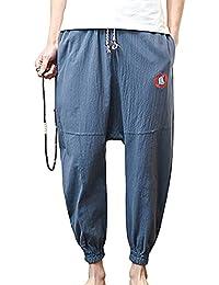 ShiFan Ropa Casual Hombre Holgados Del Harem Estilo Ocio Pantalones Tallas Grandes