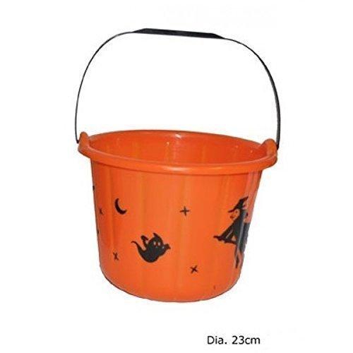 Halloween Eimer / Süßigkeiteneimer in orange als Dekoration / für Süßigkeiten (Halloween Eimer)