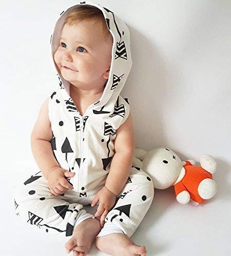 Indiana Pfeile Strampler mit Kapuzen weiß für Baby ab 0 bis 6 Monat, Größe 70...
