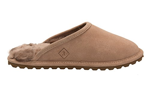 Pantofole Donna Pelle Naturale di Pecora Scape per Casa Imbottitura Calda Lana D68P Beige