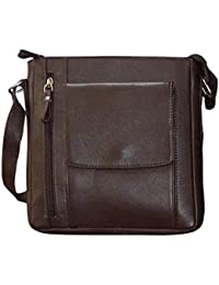 Style 98 Brown Premium Quality Leather Messenger Bag/Hand Bag/Shoulder Bag/Crossbody Bag/Travel Bag For Men &...