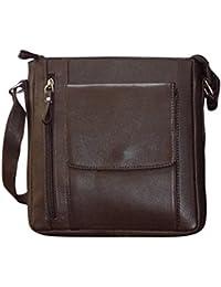 Style 98 Brown Premium Quality Leather Messenger Bag/Hand Bag/Shoulder Bag/Crossbody Bag/Travel Bag For Men &...