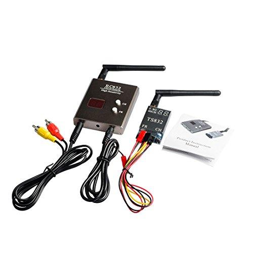 GOTOQOMO 5.8G 40CH Émetteur et récepteur AV FPV, Gamme 2000 m avec Raceband VTX et kit RX pour Drone FPV