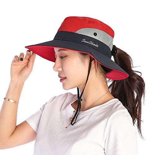 VICSPORT Sombrero Sol Mujer Gorro ala Ancha MallaSombreros