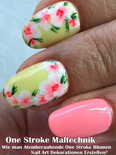 One Stroke Maltechnik: Wie man Atemberaubende One Stroke Flower Nail Art Dekorationen Erstellen? -