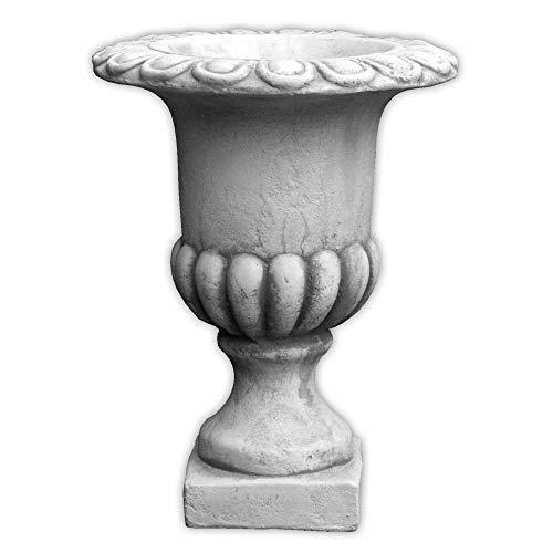 gartendekoparadies.de Massive Stein Vase antik Pflanzgefäß aus Steinguss frostfest