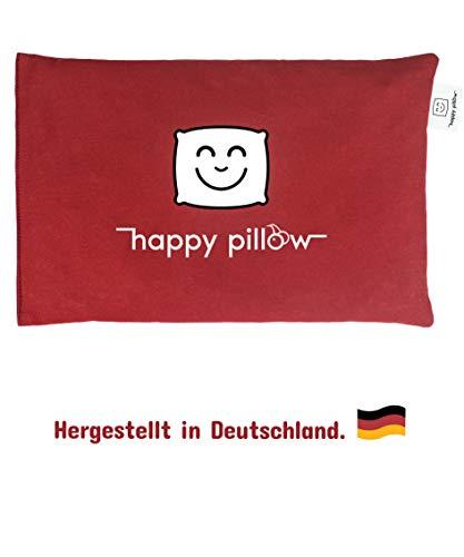 EINFÜHRUNGSANGEBOT - HAPPY PILLOW - Kirschkernkissen - 500g - Bezug aus 100% Baumwolle - ökologisches Naturprodukt zur Entspannung - Hilft bei Schmerzen und Verspannungen - Größe 29x19cm -