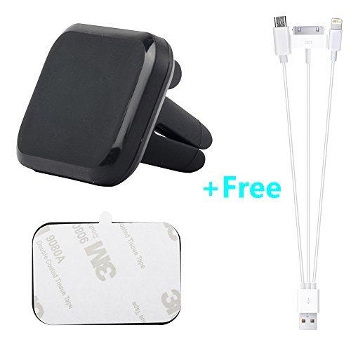 Eagles (TM) Auto Vent magnetisch Mobile Mount, Dash Mount Magnetverschluss Handy, Halterung Gratis USB-Kabel für Smartphones, Mini-Tablets und die Meisten Hüllen Eagle Mobile