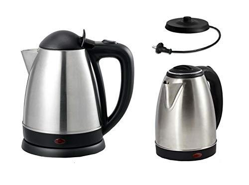 Bollitore elettrico 1500w acciaio acqua calda cucina 1,8 litri tisane te infusi
