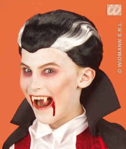 Vampir Black Child Perücke - Childrens Black And White Vampire Dracula
