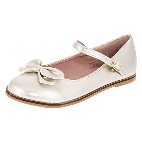 Festliche Kinder Mädchen Ballerinas Schuhe für Partys und Freizeit in Vielen Farben M297go Gold Gr.33