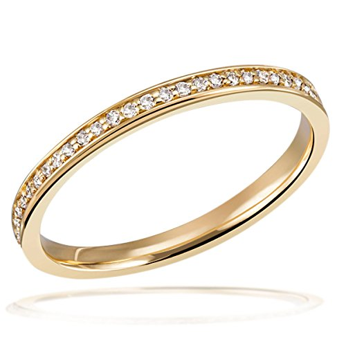 Goldmaid Damen-Ring Memoire 585 Gelbgold ab 59 Brillanten 0,23 ct. Diamantring