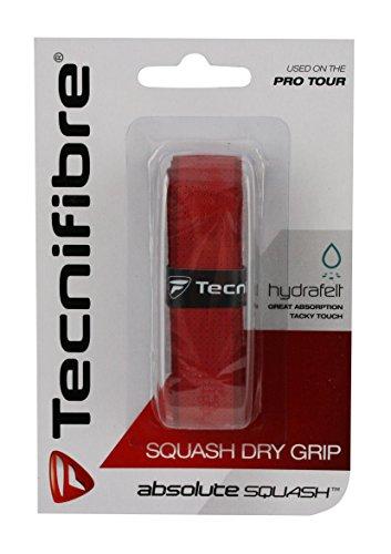 Technifibre Dry Grip Griffband für den Squashschläger, Ersatz Griff, Tacky Touch, rot