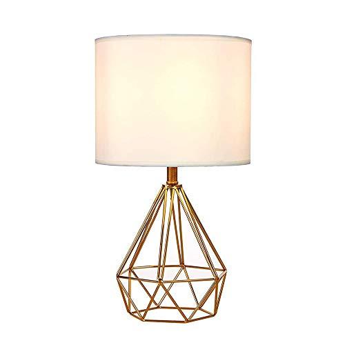 Wankd - Mini lámpara de mesa vintage, lámpara de mesa DIY, moderna, estilo de cesta,...