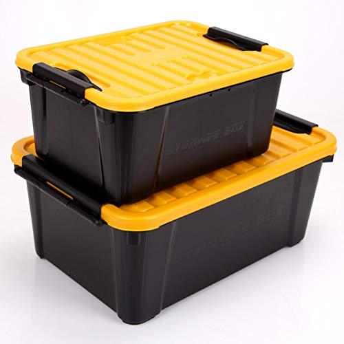 Goli-Storage Große Auto Boot Organizer Faltbare, stapelbare Kunststoff-Aufbewahrungsbox, ideal für Fahrzeug, Familien-Vans, Reisen und Camp für Auto (20L + 10L)