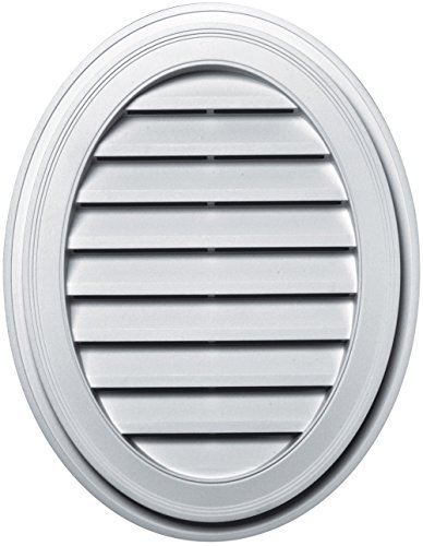 Builders Edge 120042127001 21 x 27 Oval Vent 001, White by Builders Edge