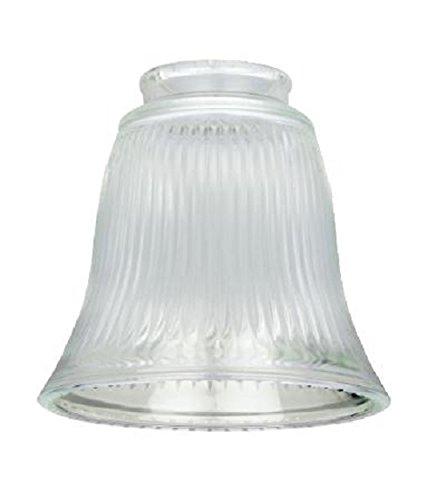 g Westinghouse Lampenschirm 4,2 cm, aus klarem Riffelglas, Glockenform, Glas, weiß, 12 x 12 x 11.51 cm ()