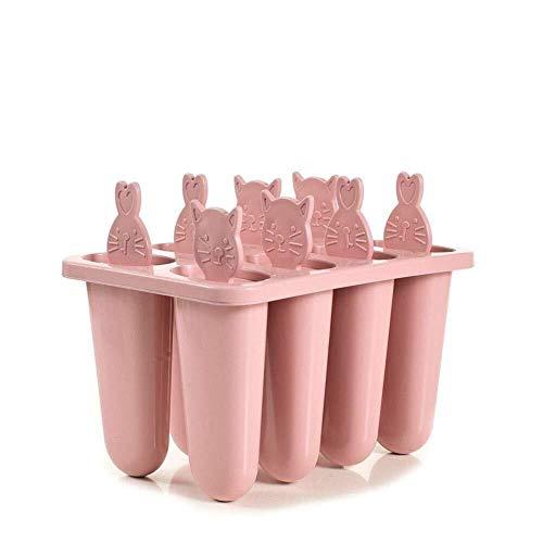 Eis Rod Mold Ice Lolly Moulds Eiscreme-Formen Wiederverwendbare Silikonform for kleine Katzen-Eis am Stiel. Leicht zu entfernen. Ice Lolly Maker - BPA-frei und von der FDA zugelassen (Color : Pink)