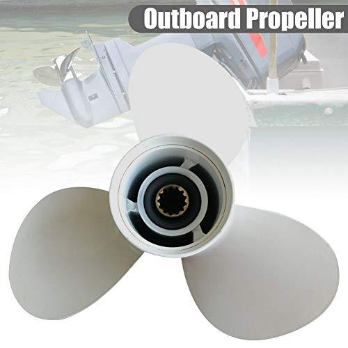 SueSupply Propeller für den Außenbereich, aus Aluminiumlegierung, 40 - 50 HP, Dekoration für Propeller-Wand, für den Motor Yamaha 11 5/8 x 11-G 69W-45947-00 YH/OB 25-60HP, mit 13 Rillen 11.625