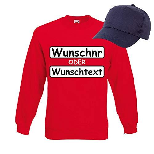 (Shirt-Panda Panzerknacker Herren Sweatshirt Set Kostüm mit Wunschnummer Karneval Verkleidung SET13 Sweater/WN/Cap L)
