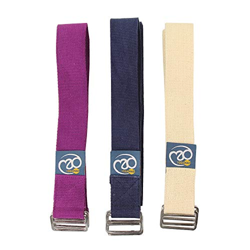 Yoga Mad Yoga Belt Unisex Adulto, Bianca, 2.5m Long