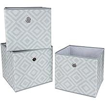 Pieghevoli in tessuto Scatole / Cubes - grigio Diamond (3 Pack)