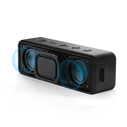 Speaker Portatile Bluetooth Anker SoundCore 2 con Bassi Potenziati, 24 Ore di Riproduzione, Raggio Bluetooth 20 metri, Resistente all'Acqua IPX5 e Microfono Incorporato per iPhone, Samsung e Altri.
