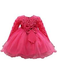 4abc4440fb1b Abito Vestito Floreale Bambino Ragazza Bowknot Festa di Carnevale  Principessa Damigella d Onore Pageant Toga Compleanno Bambine e…