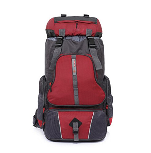 augustsport großes Fassungsvermögen Bergsteigen backpack-60l, Unisex, rot