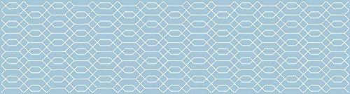 VINILIKO, Alfombra vinilo, Hexágono, Azul, 80x300