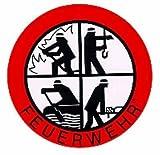 Feuerwehr Aufkleber - DFV - Signet-Klebeplakette 90 mm außenklebend